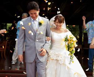 マー君と里田まいの結婚風景